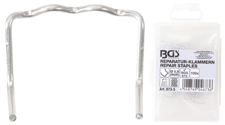 BGS 873-5 Reparatur Klammern L-Form Ø0,8mm 100 Stück für Kunststoffreparatur