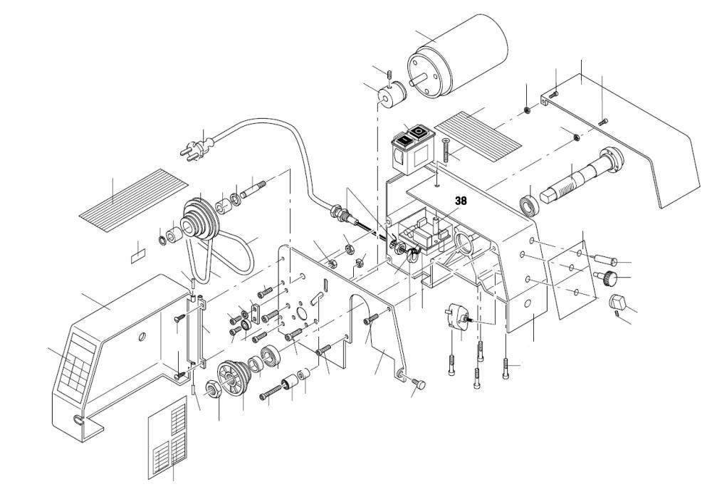 PROXXON 24004-01-38 Distanzhülsen (2 Stück) für Drehmaschine PD 230/E