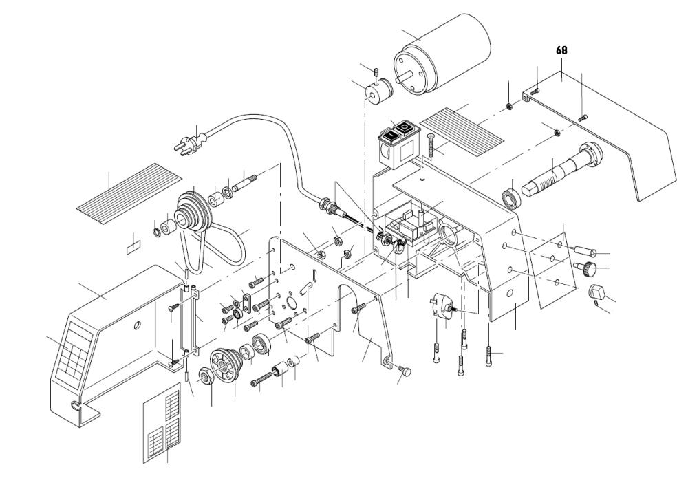 PROXXON 24004-01-68 Futterschutz für Drehmaschine PD 230/E