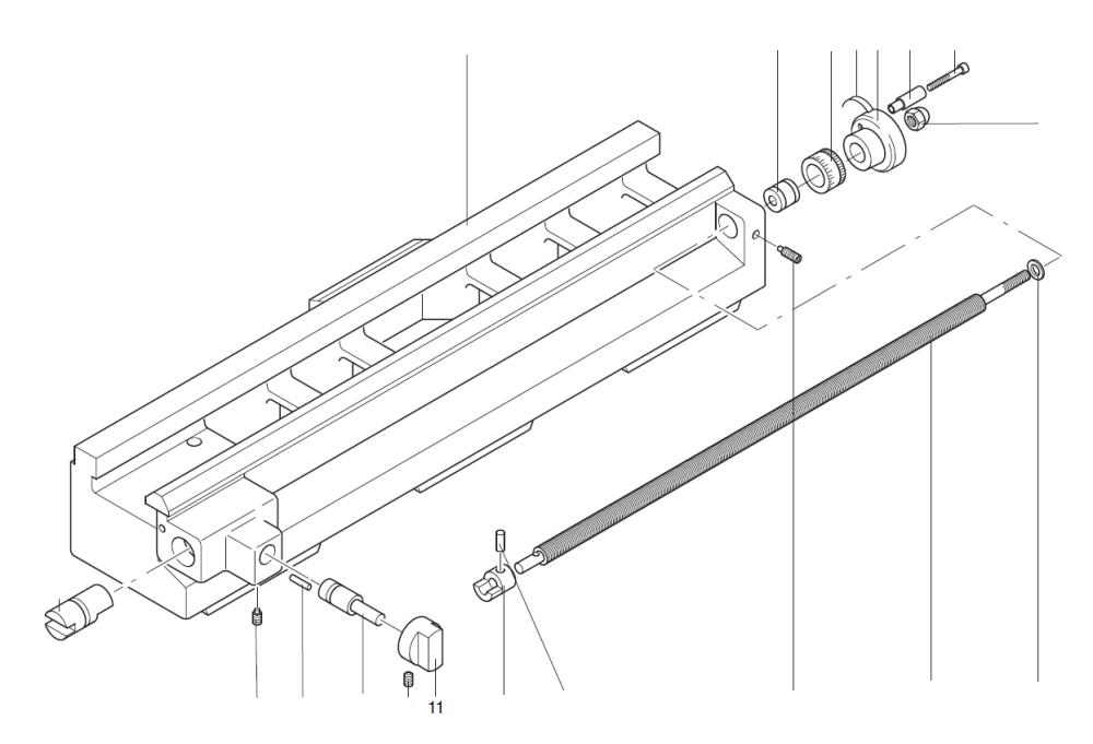 PROXXON 24004-02-11 Schaltknopf für Vorschub für Drehmaschine PD 230/E