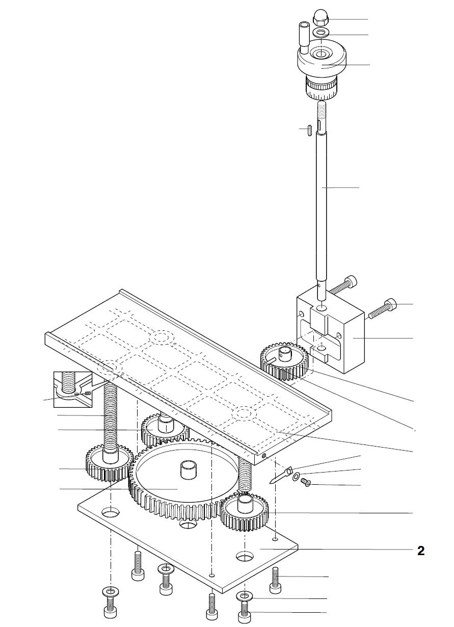PROXXON 27040-06-02 Konterplatte für Dickenhobel DH40