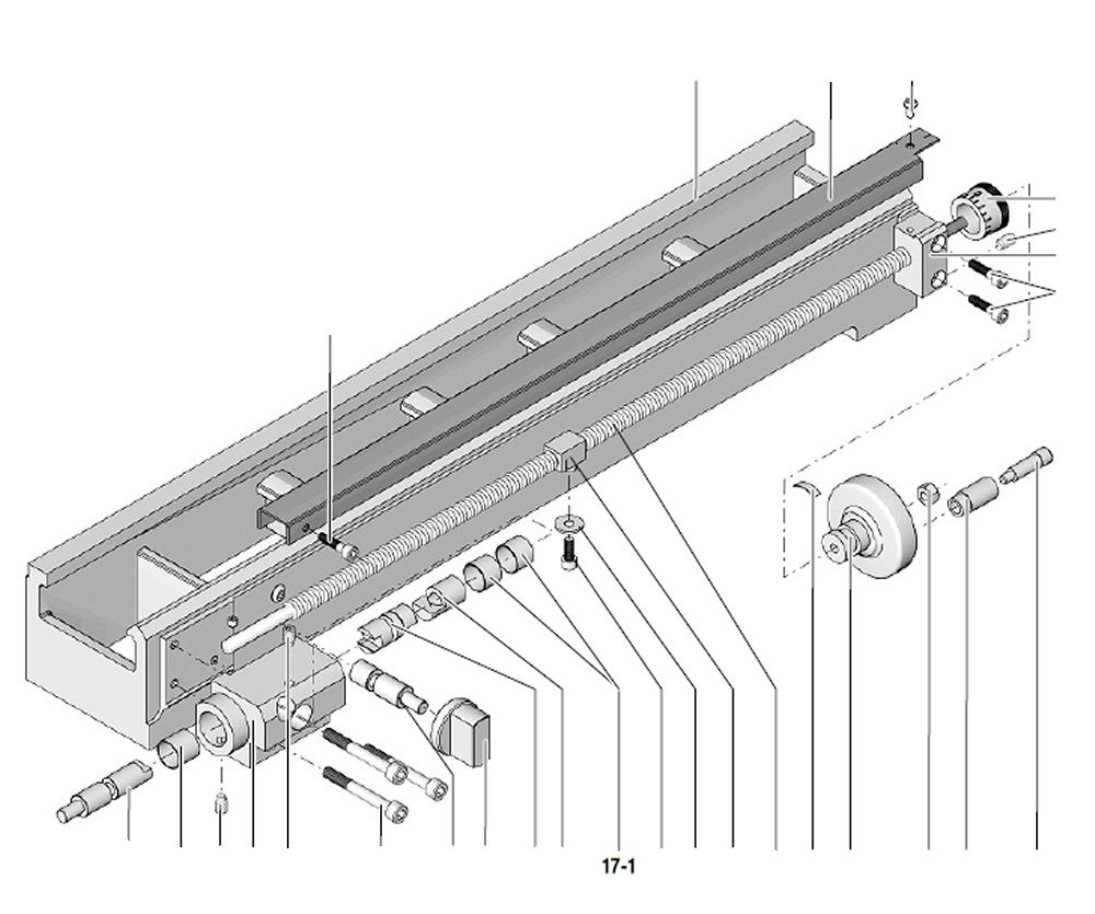 PROXXON 24002-02-17-01 Gleitlager für Drehmaschine PD 250/E