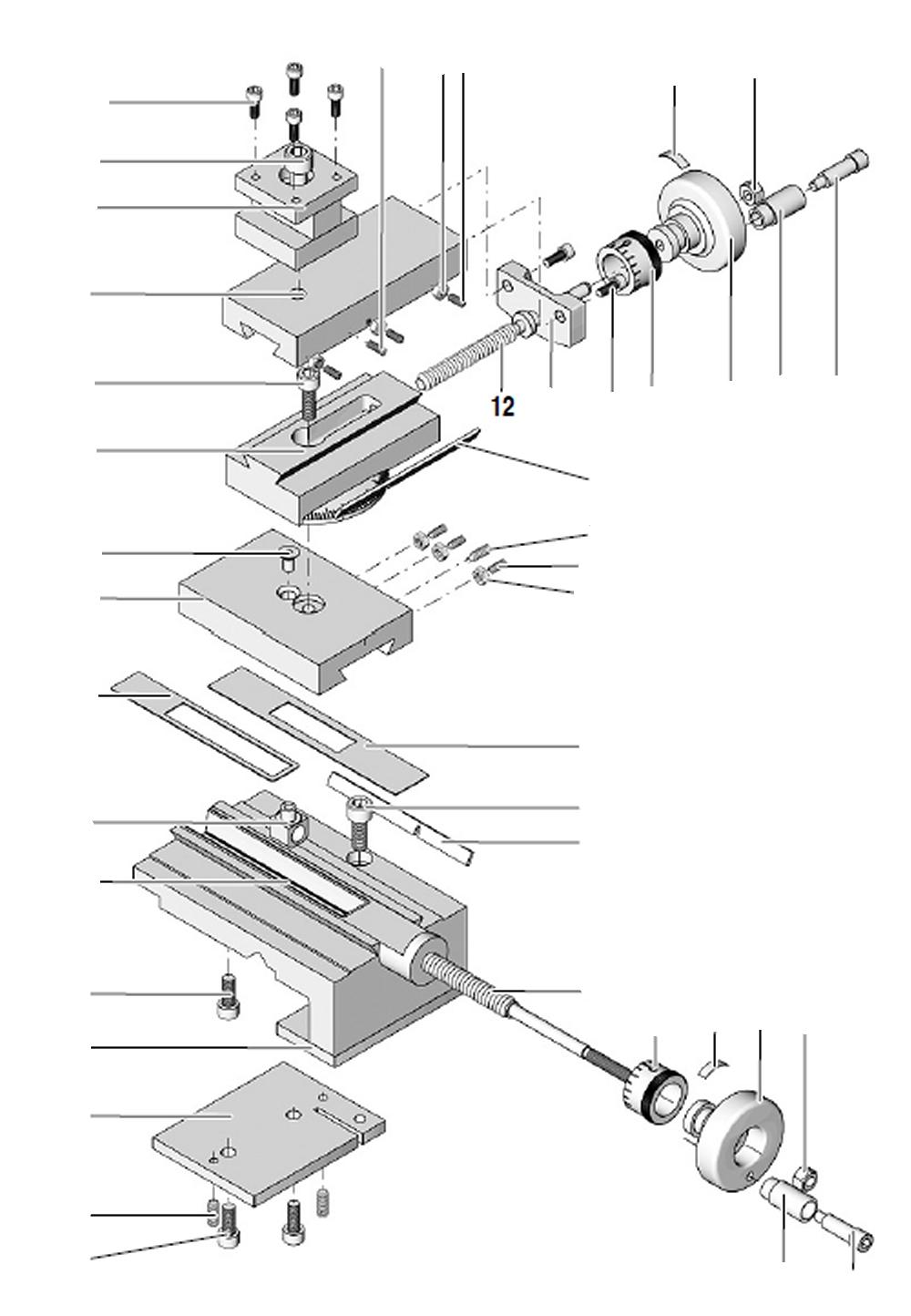 PROXXON 24002-03-12 Spindel für Drehmaschine PD 250/E