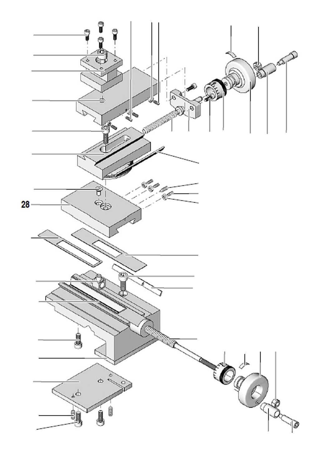 PROXXON 24002-03-28 Planschlitten für Drehmaschine PD 250/E