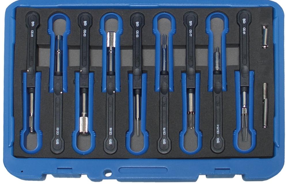 BGS 60150 Satz Entriegelungswerkzeug Auspinwerkzeug KfZ Kabel Stecker MAN Volvo 14-teilig