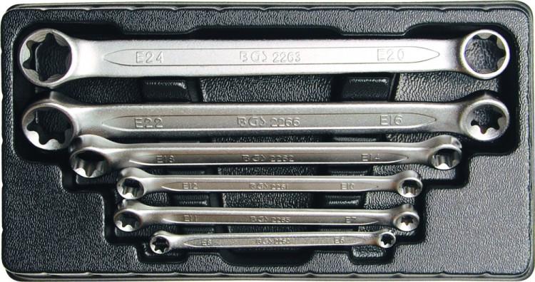 BGS 2268 Satz TORX Ringschlüssel E6-E24 6 teilig warm geschmiedet