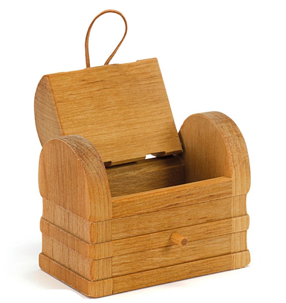 OSTHEIMER 5540707 Schatztruhe, klein aus Holz