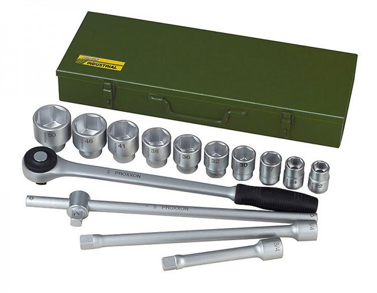 """PROXXON 23300 Steckschlüsselsatz 22-50mm Antrieb 20mm (3/4"""") 14 teilig"""