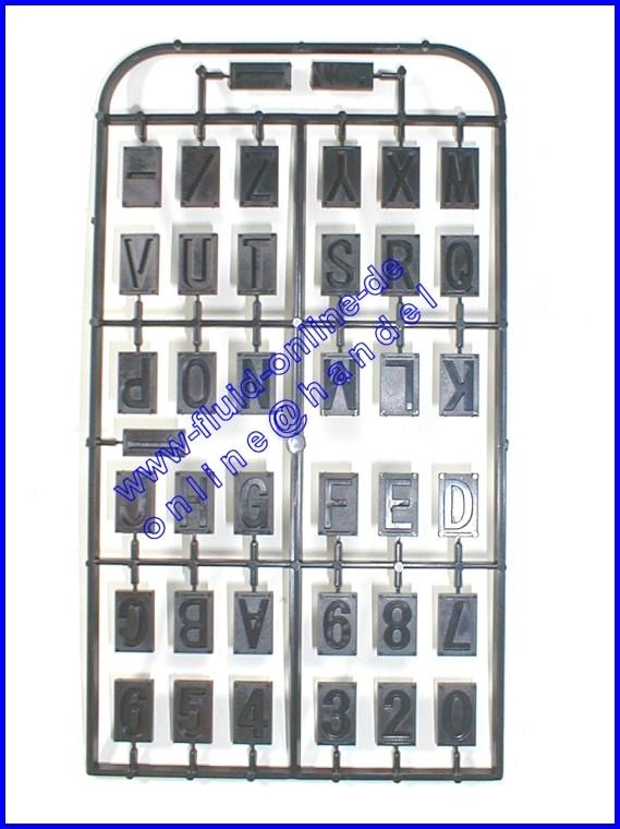 PROXXON 27104 Buchstaben- und Zahlensatz für Graviereinrichtung GE20 & GE70