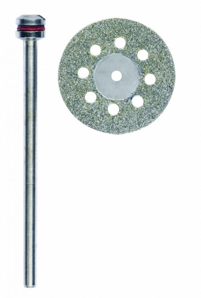 PROXXON 28844 Diamantierte Trennscheibe Ø20mm mit Kühllöchern + 1 Trägerstift