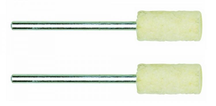 PROXXON 28802 Filzpolierstift, Form Zylinder - 2 Stück/Packung