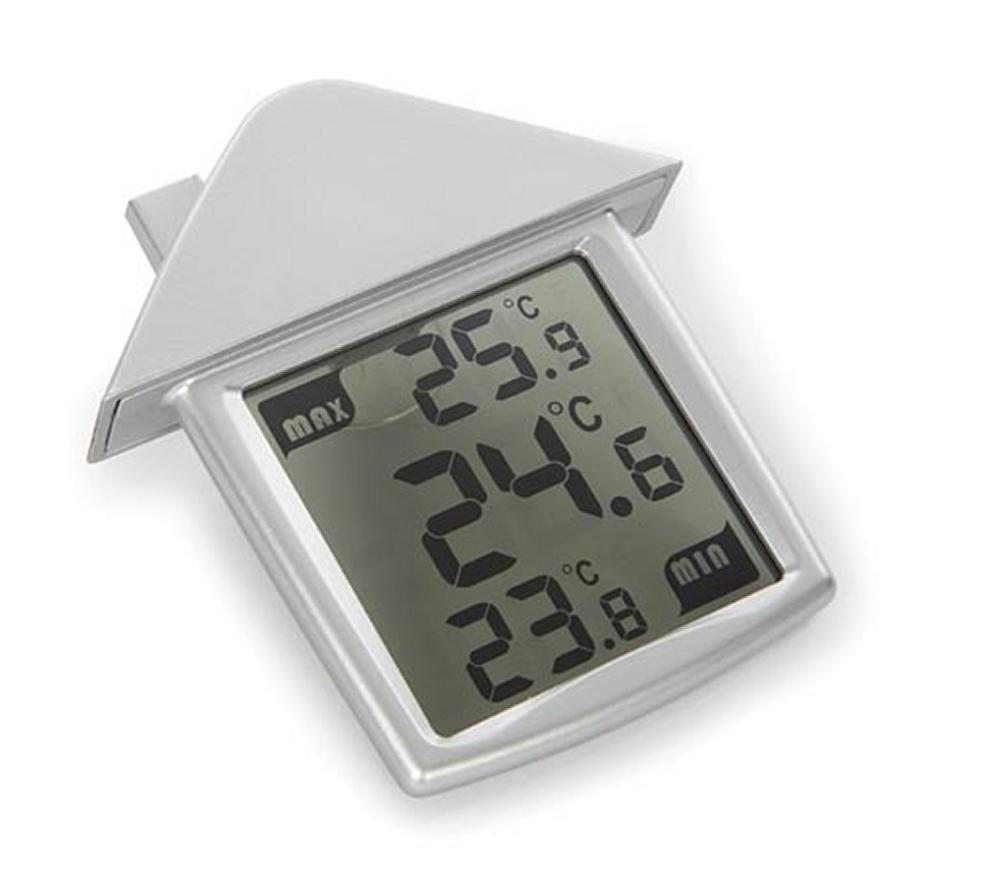Perel Vellemann WC216 Thermometer fürs Fenster mit transparenter Anzeige mit Mindest- und Höchsttemperatur