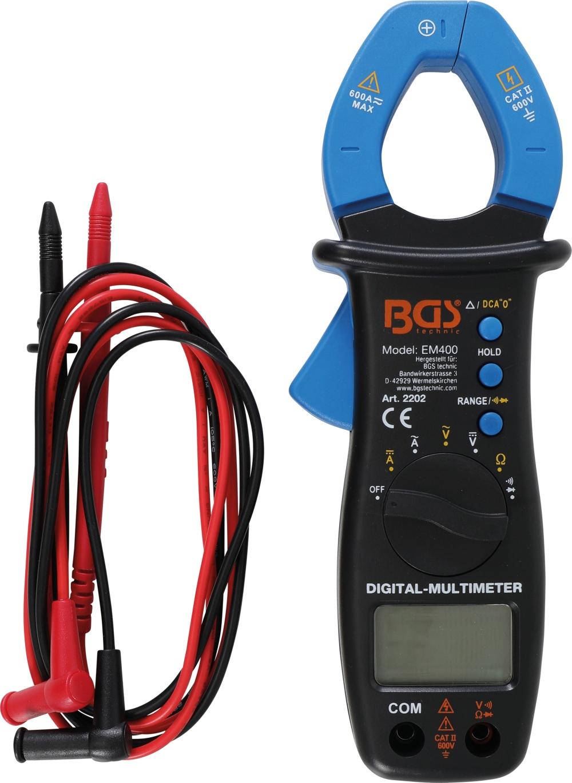 BGS 2202 Digitales Multimeter mit Zange für Gleich- und Wechselstrom