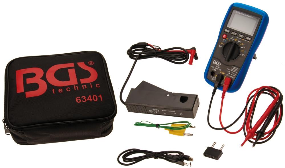 BGS 63401 Digitales Multimeter für Kfz mit USB Schnittstelle