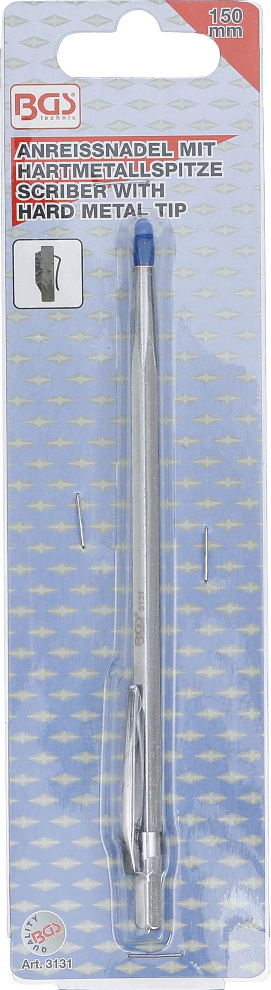 BGS 3131 Anreißnadel mit Hartmetallspitze Länge 150mm