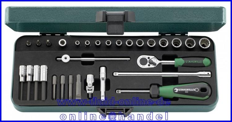 """STAHLWILLE 40D/23/7 Steckschlüssel Garnitur 6,3mm (1/4"""") Antrieb - 96010305"""