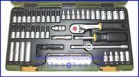 PROXXON 23280 Feinmechanikersatz Ratschenkasten mit Antrieb 6,3mm (1/4 ) 50tlg. Satz