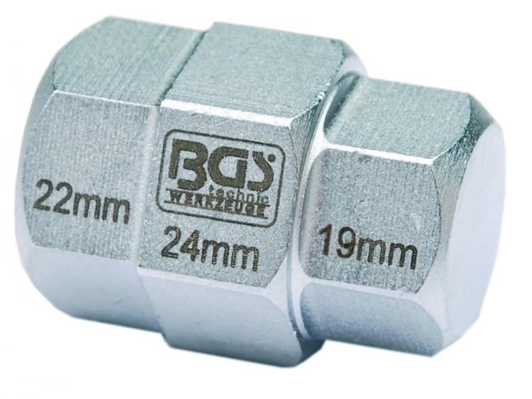 BGS 5059 Innensechskant Nuss gestufte Ausführung 19 - 22 - 24mm - 3 Größen in einem Werkzeug!