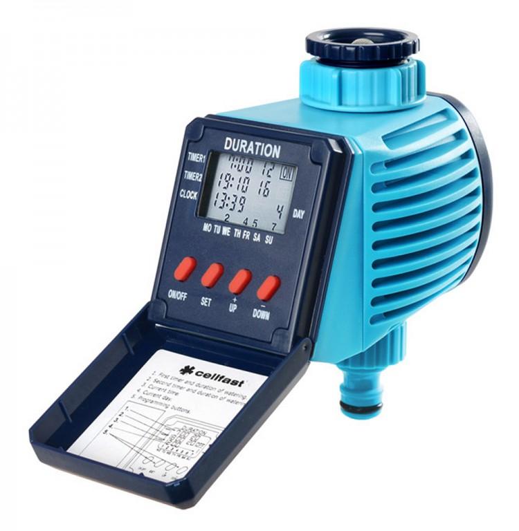 Perel Cellfast 52-095 Bewässerungsuhr Zeitschaltuhr LCD Anzeige Wochenschaltung