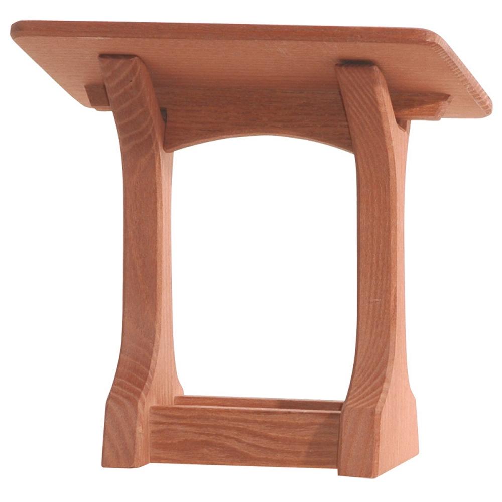 OSTHEIMER 4060 Krippe mit Dach aus Holz Höhe 23 x 22 x 13cm