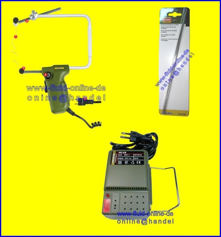 PROXXON PAKET THERMOCUT Heißdraht Schneidgerät 12/e 27082 + 28706 + 28082 - kompletter Satz