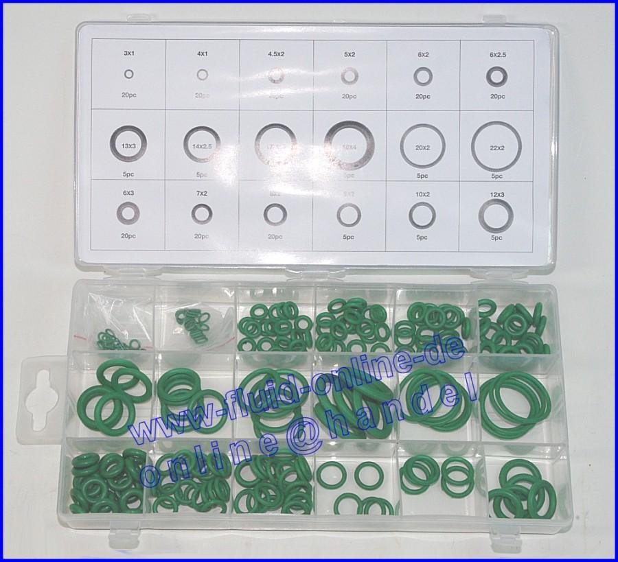 BGS 8121 Sortiment O-Ringe / Dichtungsringe aus HNBR für Klimaanlage 3-22mm 225 teiliger Satz