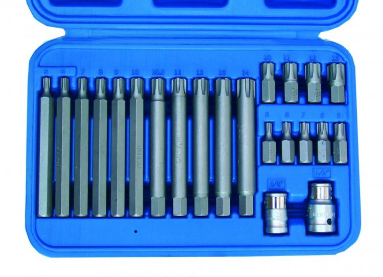 BGS 5013 Bitsatz für RIBE Schrauben 22-teilig inkl. 10,3mm Ribe