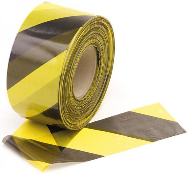 trassierband 500m schwarz gelb flatterband absperrband 0 03 meter 3048. Black Bedroom Furniture Sets. Home Design Ideas