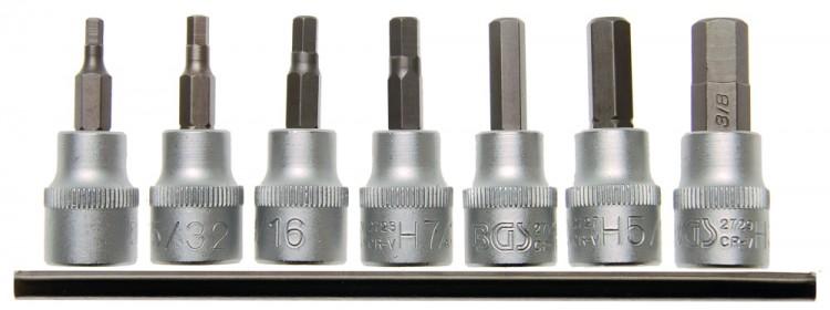 """BGS 5104 ZOLL Bit Satz Innensechskant 1/8"""" - 3/8"""" Antrieb 10mm (3/8"""") 7 teilig"""