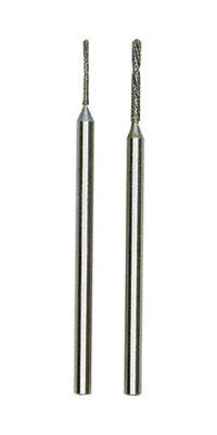 PROXXON 28255 Diamant-Spiralbohrer, je ein Stück Ø 0,8mm + Ø1,2mm