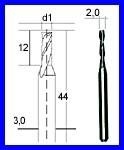 PROXXON 28759 Hartmetall-Multifräser Schaftfräser 2mm