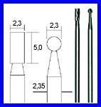 PROXXON 28750 Hartmetall-Fräsersatz, 2-tlg. (Zylinder und Kugel)