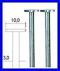 PROXXON 28727 Scheibenfräser (Wolfram-Vanadiumstahl) Ø10mm 2 Stück