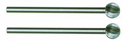 PROXXON 28725 Kugelfräser (Wolfram-Vanadiumstahl) Ø6 mm 2 Stück