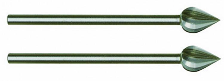 PROXXON 28724 Fräser Flamme (Wolfram-Vanadiumstahl), 6 mm, 2 Stück