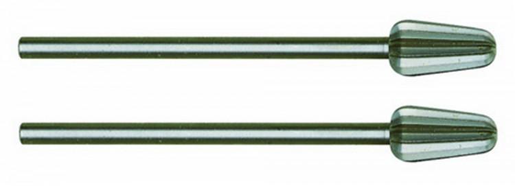 PROXXON 28723 Konusfräser (Wolfram-Vanadiumstahl), 6 mm, 2 Stück