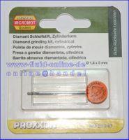 PROXXON 28240 Diamantschleifstift Form Zylinder 1,8mm