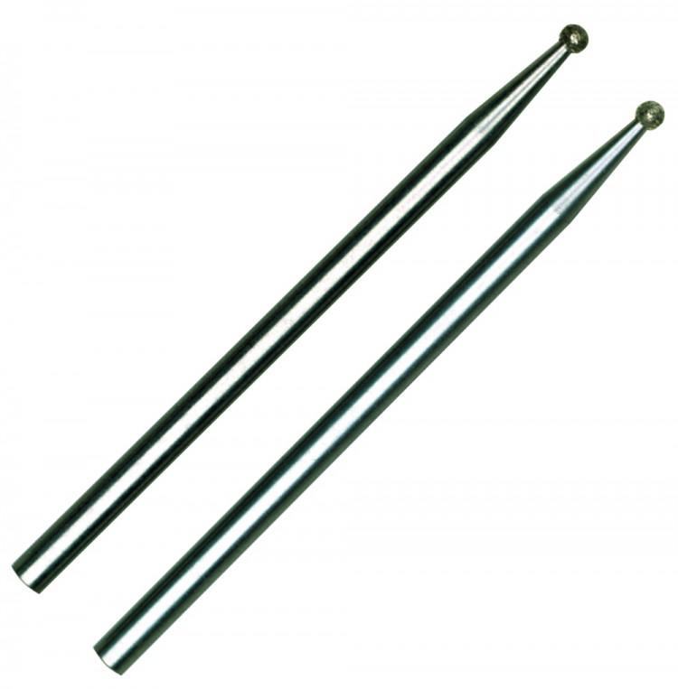 PROXXON 28212 Diamantschleifstifte Form Kugel 1,0 mm 2 Stück/Packung