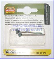 PROXXON 28272 Silizium-Carbid Schleifstifte Form Linse 2 Stück / Packung
