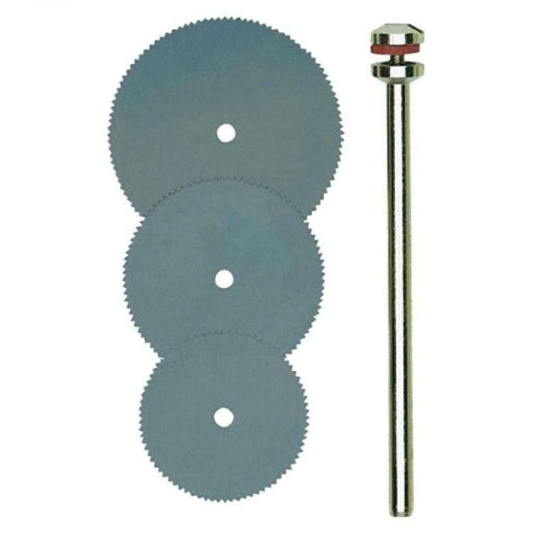 PROXXON 28830 Trennsägeblätter je 1 Stück Ø16mm 19mm  22mm + 1 Träger