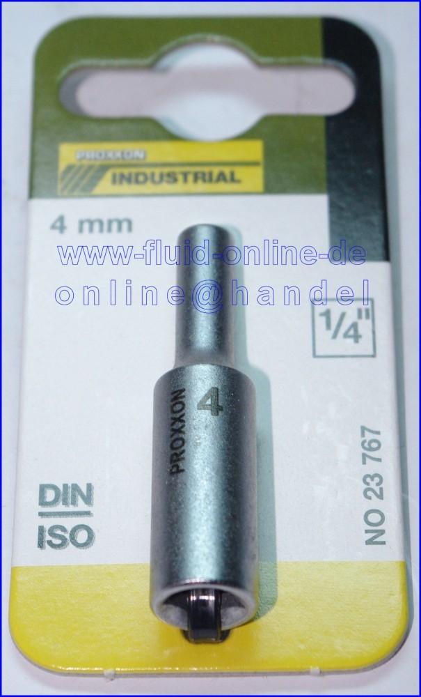 PROXXON 23767 Tiefbett Steckschlüsseleinsatz / Nuss 4mm Antrieb 6,3mm (1/4