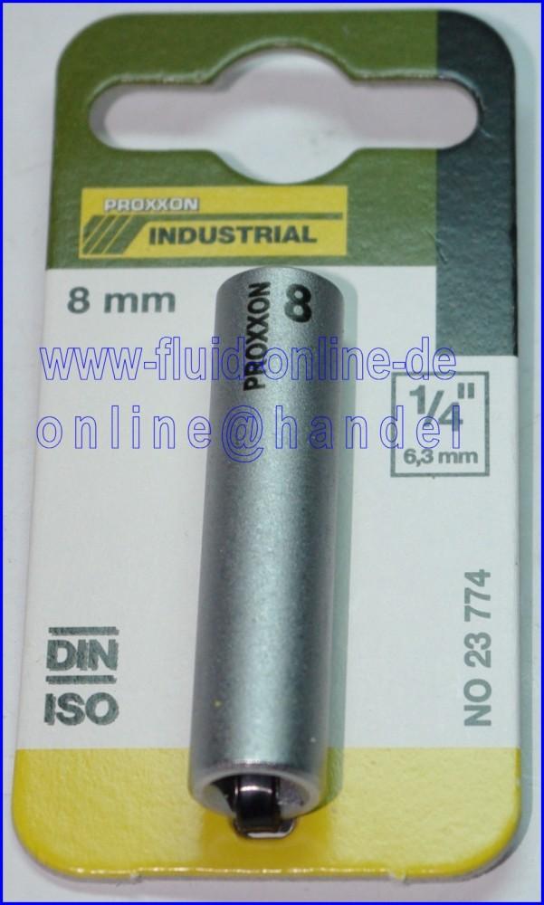 PROXXON 23774 Tiefbett Steckschlüsseleinsatz / Nuss 8mm Antrieb 6,3mm (1/4')