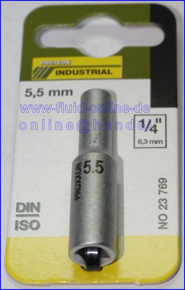 PROXXON 23769 Tiefbett Steckschlüsseleinsatz / Nuss 5,5mm Antrieb 6,3mm (1/4