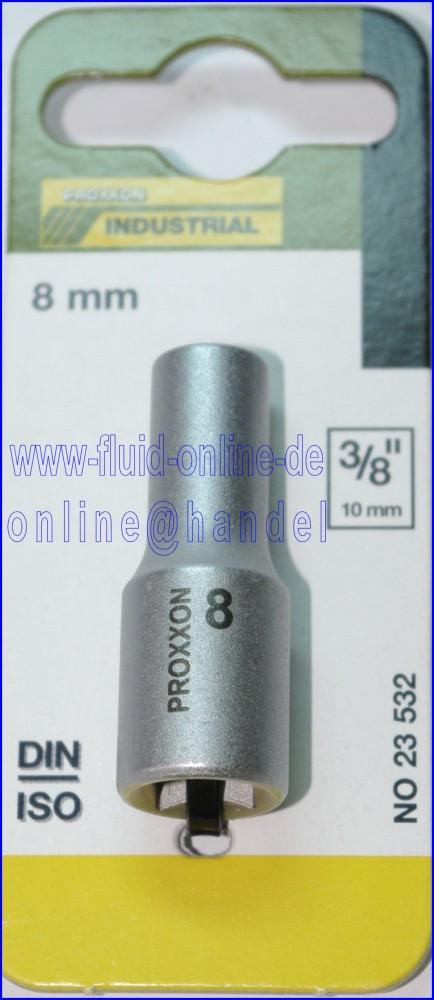 PROXXON 23532 Tiefbett Nuss 8mm Antrieb 10mm (3/8')