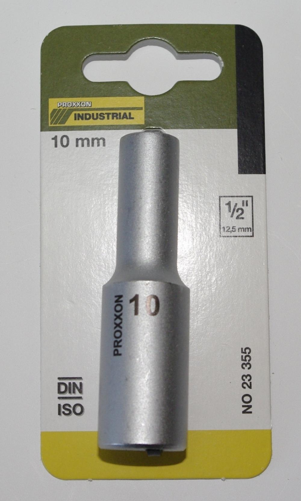 PROXXON 23355 Tiefbett Steckschlüsseleinsatz / Nuss 10mm Antrieb 12,5mm (1/2')