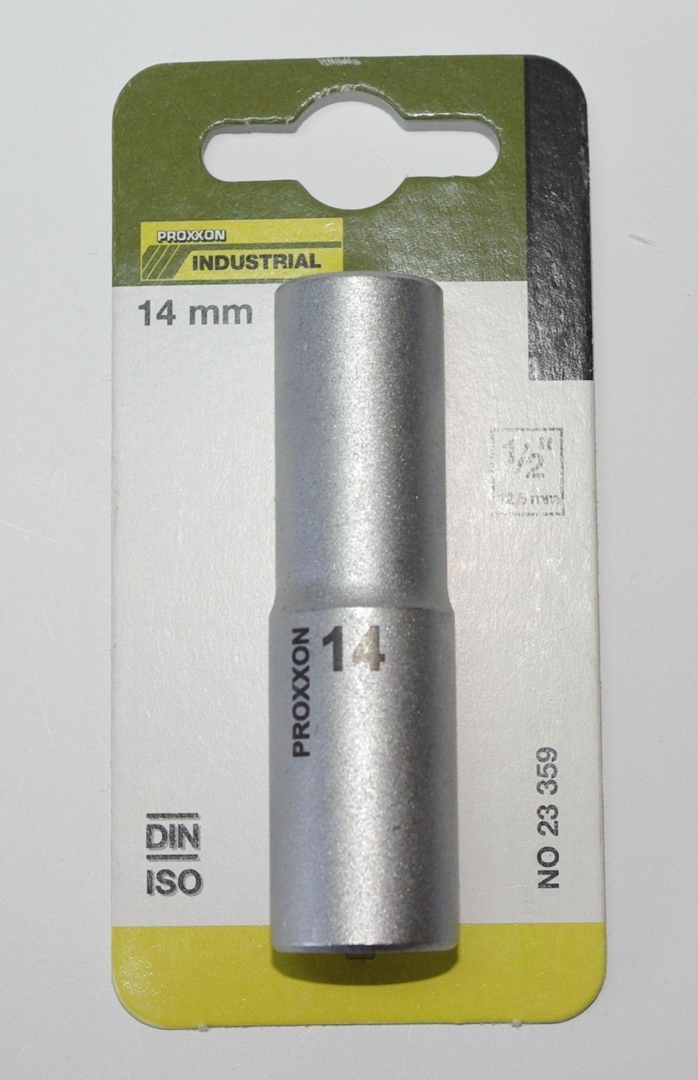 PROXXON 23359 Tiefbett Steckschlüsseleinsatz / Nuss 14mm Antrieb 12,5mm (1/2')