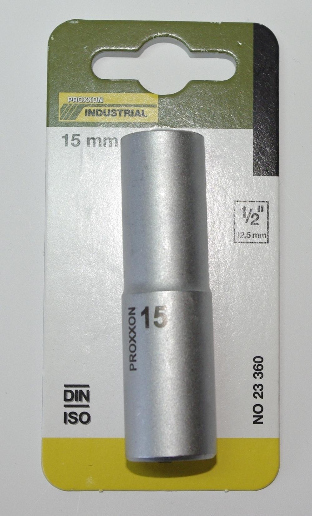 PROXXON 23361 Tiefbett Steckschlüsseleinsatz / Nuss 16mm Antrieb 12,5mm (1/2')