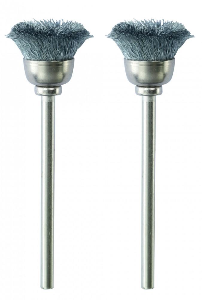 PROXXON 28953 Stahldraht Topfbürsten 13 mm, 2 Stück