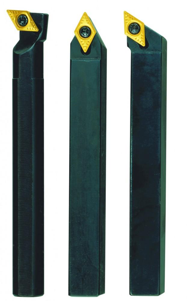 PROXXON 24556 Satz Stahlhalter mit Hartmetall Wendeplatten 10x10mm für PD400