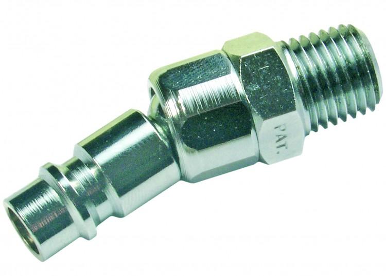 """BGS 3228 Gewindestecknippel 12,8mm (1/4"""") Aussen auf Schnellkupplung mit Kugelgelenk ChromVanadium"""